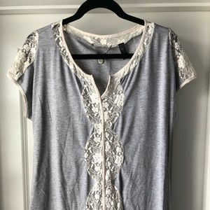 Buckle Lace Top